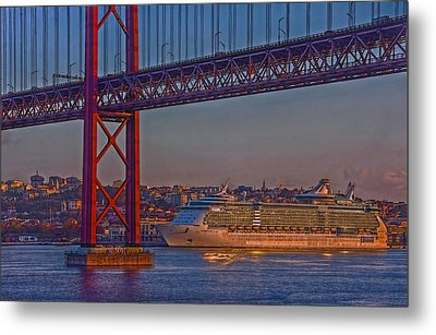 Dawn On The Harbor Metal Print by Hanny Heim