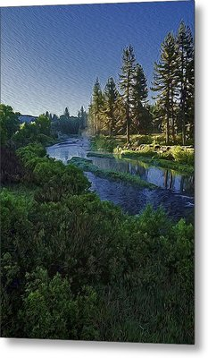 Metal Print featuring the photograph Dawn On The River by Nancy Marie Ricketts