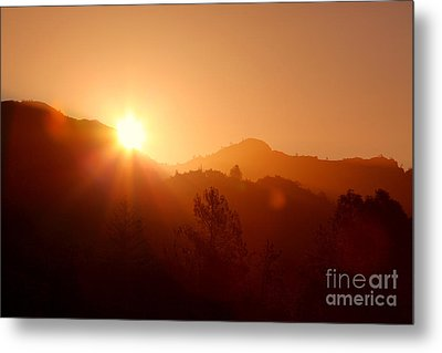 Dawn Over Calistoga Metal Print by Posterity Productions