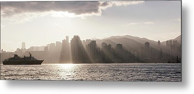 Dawn Over Central Business District Metal Print