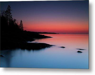 Dawn Over The North Shore Of Lake Metal Print