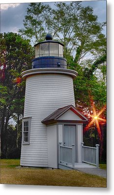 Dawn Over The Sister Metal Print by Jeff Folger