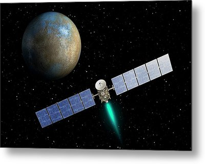 Dawn Spacecraft At Ceres Metal Print by Nasa/jpl-caltech