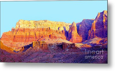 Dawn - Vermillion Cliff And Cathedral Canyon Metal Print by Douglas Taylor