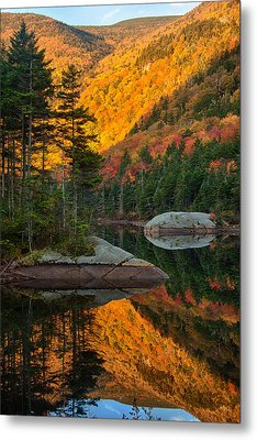 Dawns Foliage Reflection Metal Print by Jeff Folger