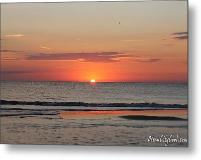Metal Print featuring the photograph Dawn's Orange Hues by Robert Banach