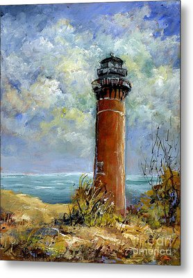 Little Au Sable Point Lighthouse Michigan Metal Print
