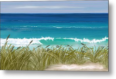 Day At The Beach Metal Print by Anthony Fishburne