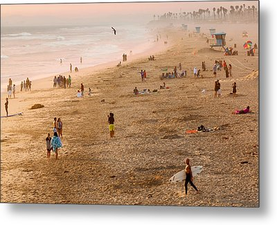Metal Print featuring the photograph Day At The Beach - Sunset Huntington Beach California by Ram Vasudev