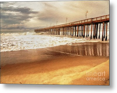 Day At The Pier Large Canvas Art, Canvas Print, Large Art, Large Wall Decor, Home Decor, Photograph Metal Print by David Millenheft
