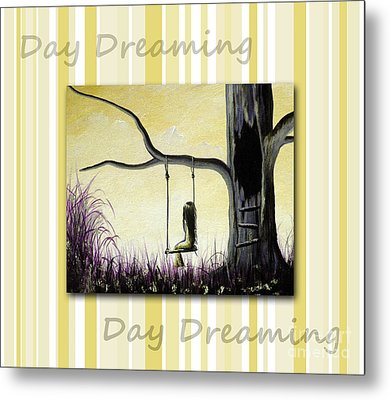 Day Dreaming In Yellow By Shawna Erback Metal Print by Shawna Erback