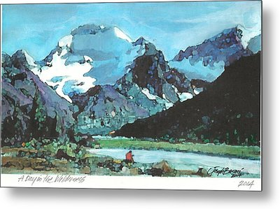 Day In The Wilderness Metal Print by Joseph Barani