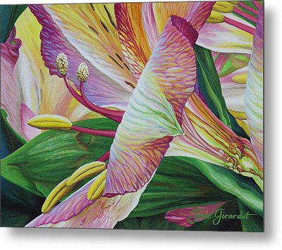Day Lilies Metal Print by Jane Girardot