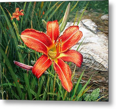 Day Lily Metal Print by Bob  George