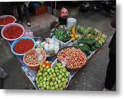 Day Market - Pak Chong Thailand - 01136 Metal Print