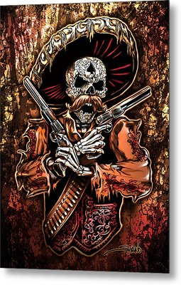 Day Of The Dead Gunslinger Metal Print