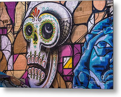 Metal Print featuring the mixed media Day Of The Dead Mural by Terry Rowe