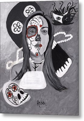 Day Of The Dead Metal Print by Reba Baptist