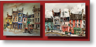 Day To Day Ennistymon Clare Metal Print by Val Byrne