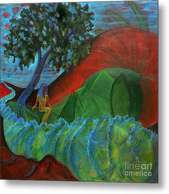 Metal Print featuring the painting Uncertain Journey by Elizabeth Fontaine-Barr