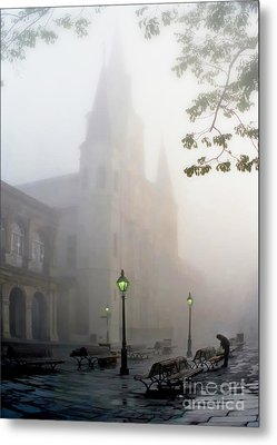 Daybreak In Jackson Square Metal Print