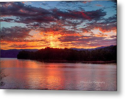 Daybreak Lake Ocoee Metal Print by Paul Herrmann