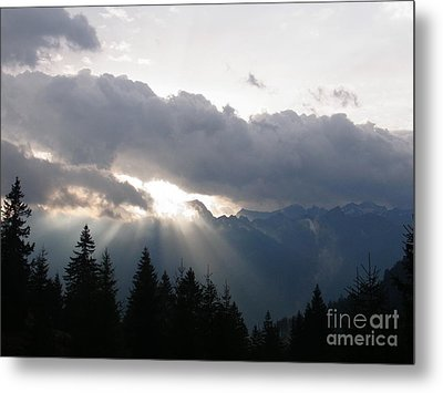 Daybreak Over Lepontine Alps Metal Print by Agnieszka Ledwon