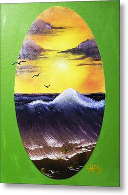 Metal Print featuring the painting Daybreak Tide by The GYPSY And DEBBIE
