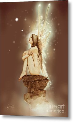 Daydreaming Faerie Metal Print by John Silver