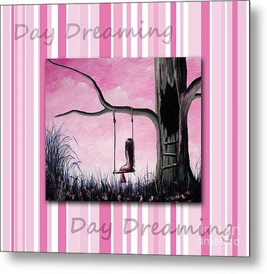 Daydreaming In Pink By Shawna Erback Metal Print by Shawna Erback