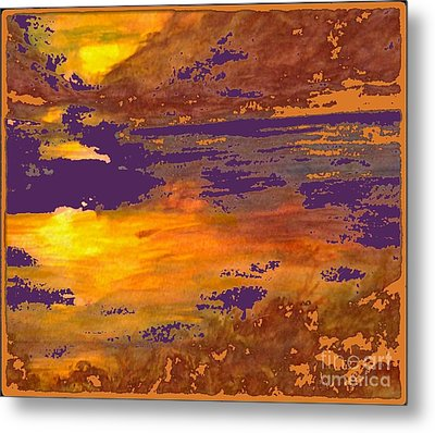 Days End Metal Print by Cindy McClung
