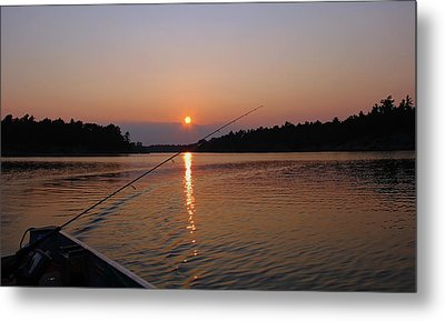 Metal Print featuring the photograph Sunset Fishing by Debbie Oppermann