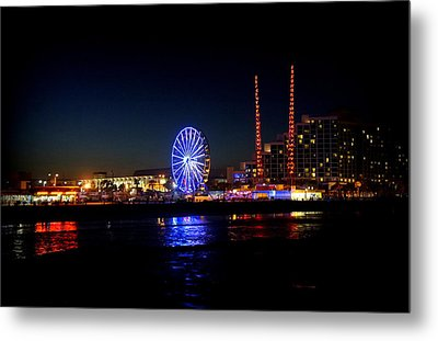 Metal Print featuring the photograph Daytona At Night by Laurie Perry