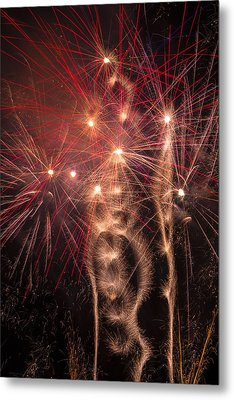 Dazzling Fireworks Metal Print by Garry Gay