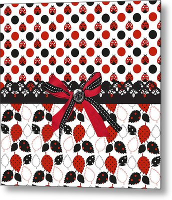 Dazzling Ladybugs  Metal Print