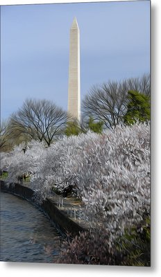 Metal Print featuring the digital art Dc Blossoms by Kelvin Booker