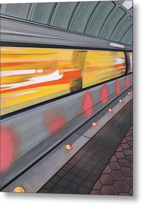 Metal Print featuring the painting Dc Light Rail by Jude Labuszewski