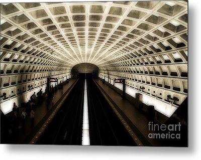 Metal Print featuring the photograph Dc Metro by Angela DeFrias