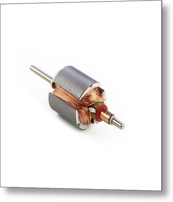 Dc Motor Armature Metal Print by Science Photo Library