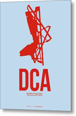 Dca Washington Airport Poster 2 Metal Print by Naxart Studio