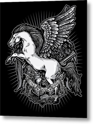 Dcla Cold Dead Hand Pegasus Metal Print by David Cook Los Angeles
