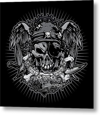 Dcla Cold Dead Hand Pirate Gray Metal Print