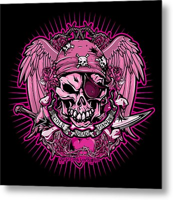 Dcla Cold Dead Hand Pirate Pink Metal Print