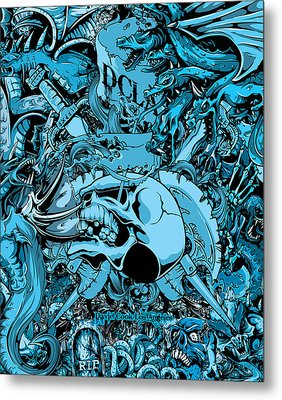 Dcla Designed Skull Hell On Earth Artwork 6 Metal Print