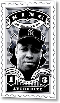 Dcla Elston Howard Kings Of New York Stamp Artwork Metal Print by David Cook Los Angeles