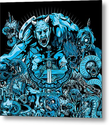 Dcla Hell On Earth Iv Metal Print