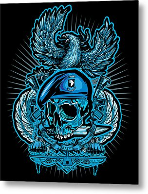 Dcla Los Angeles Skull 101st Airborne Artwork Metal Print