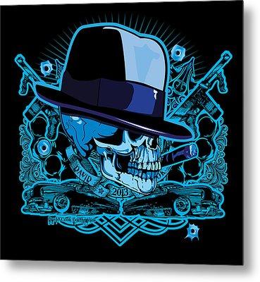 Dcla Skull 20s Og Metal Print