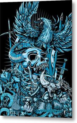 Dcla Skull Hell On Earth Metal Print