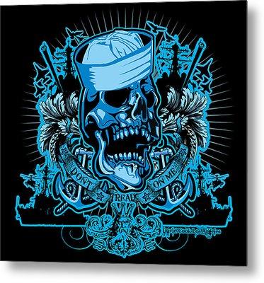 Dcla Skull Us Navy Davey Jones King Neptune Art Metal Print